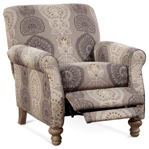 Serta Upholstery by Hughes Furniture 245 Traditional High Leg Recliner with Push Back Reclining
