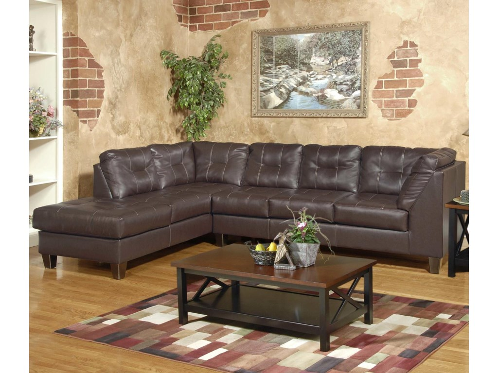 Serta Upholstery by Hughes Furniture 2500 SertaSectional with LAF Chaise