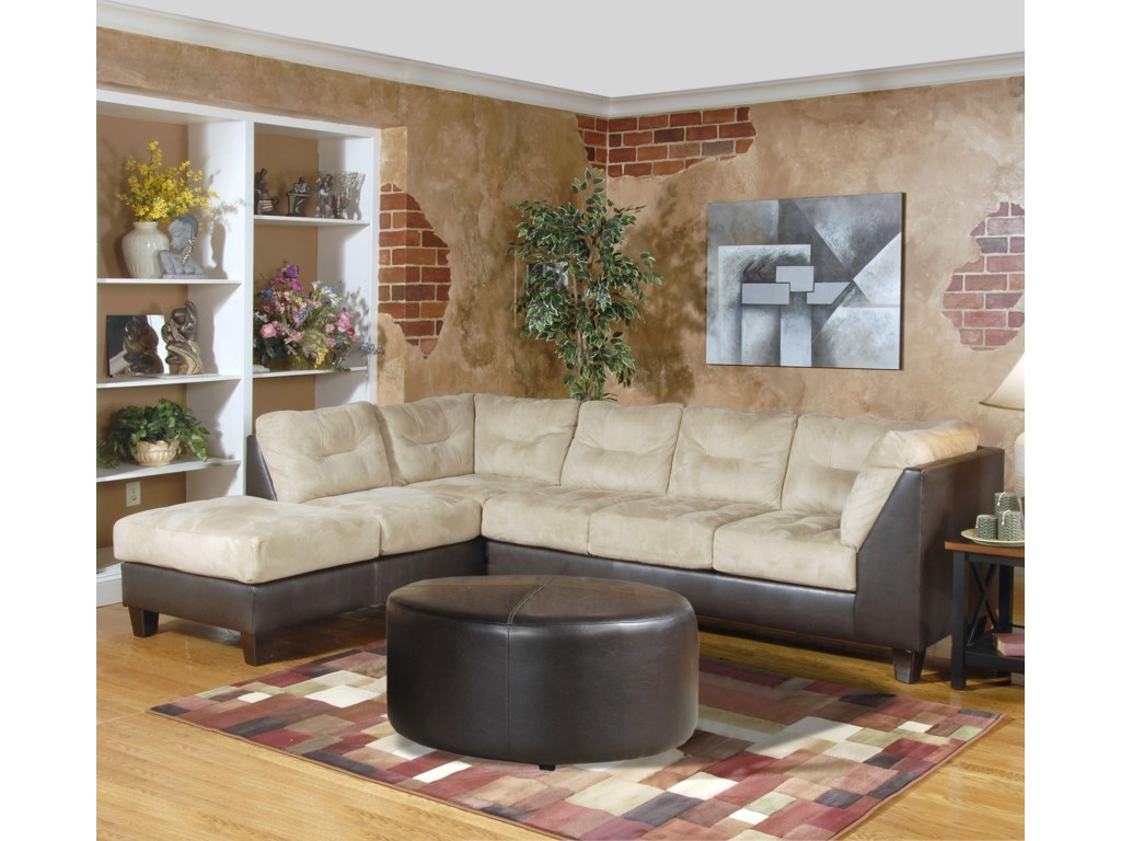 2550 Contemporary Sectional with Left-Facing Chaise by Serta Upholstery by  Hughes Furniture at Rooms for Less