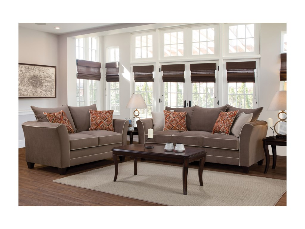 Serta Upholstery by Hughes Furniture 2650Love Seat