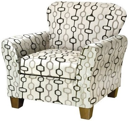 Serta Upholstery 3010 Upholstered Chair with Flare Tapered Arms