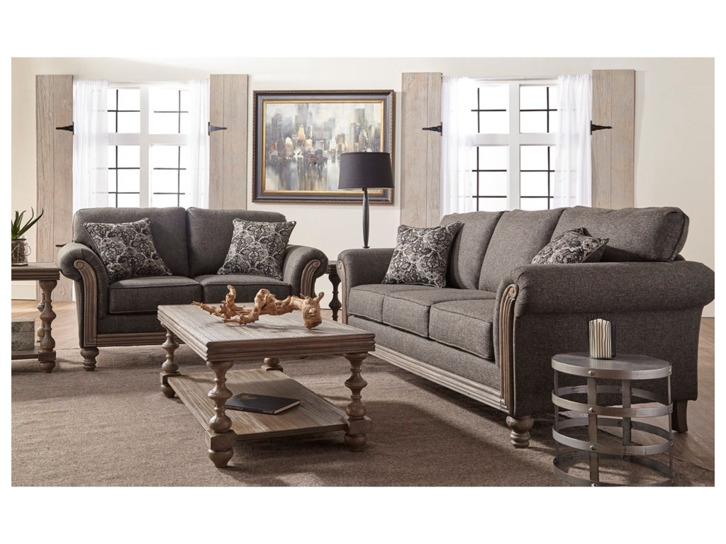 Serta Upholstery by Hughes Furniture 3400Stationary Sofa