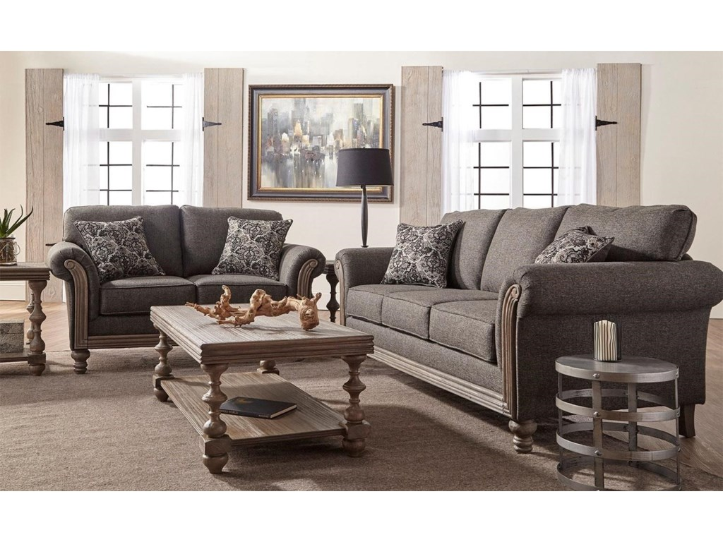 Belmont 2PC Sofa & Loveseat Set by Serta Upholstery at Rotmans