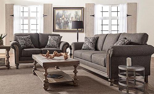 Serta Upholstery Belmont 2PC Sofa & Loveseat Set