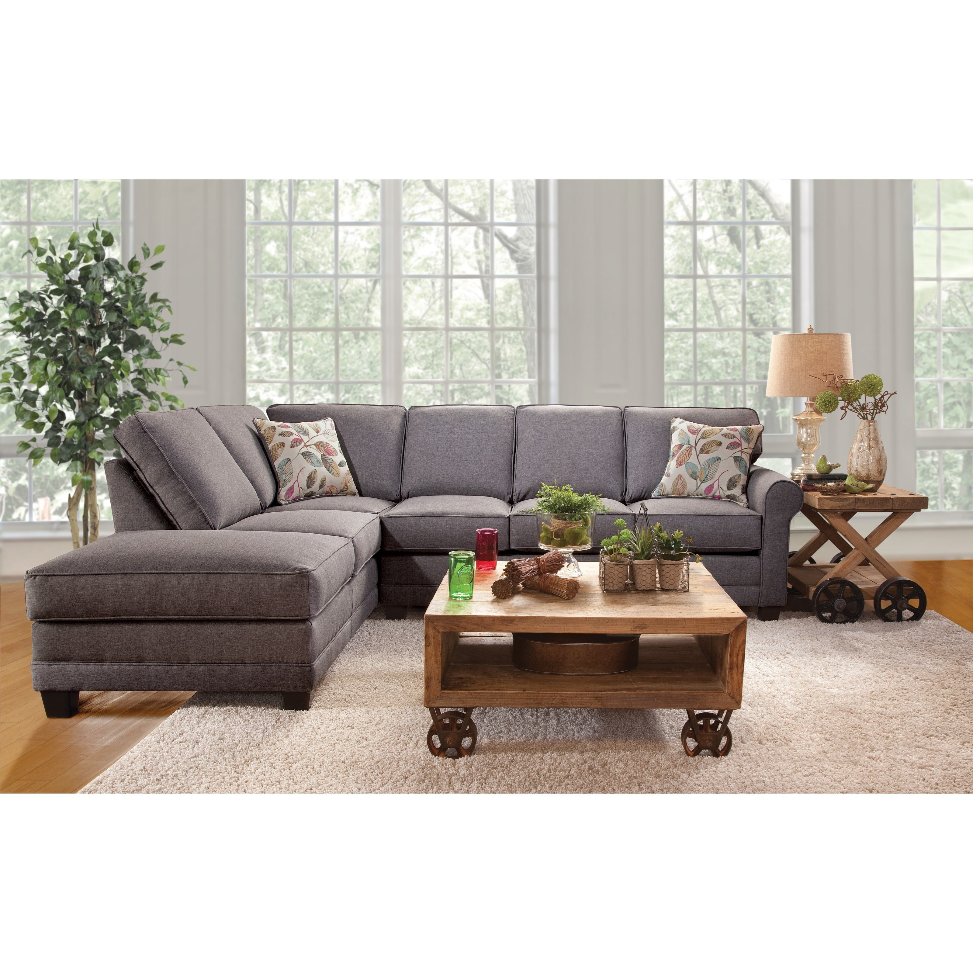 Charmant 3700 Casual Sectional Sofa With Chaise By Serta Upholstery