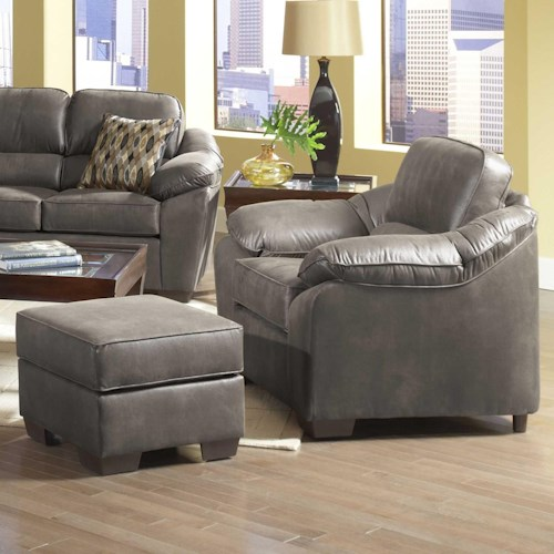 Serta Upholstery by Hughes Furniture 3800 Comfortable Chair and Ottoman Set