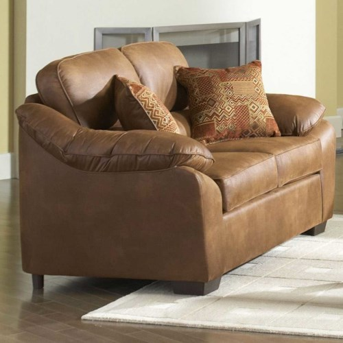 Serta Upholstery by Hughes Furniture 3800 Plush Pillowed Love Seat
