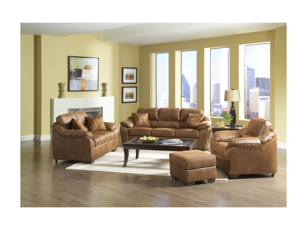 Serta Upholstery by Hughes Furniture 3800Pillowed Love Seat