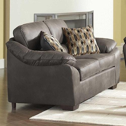 Serta Upholstery by Hughes Furniture 3800 Plush Pillowed Love Seat