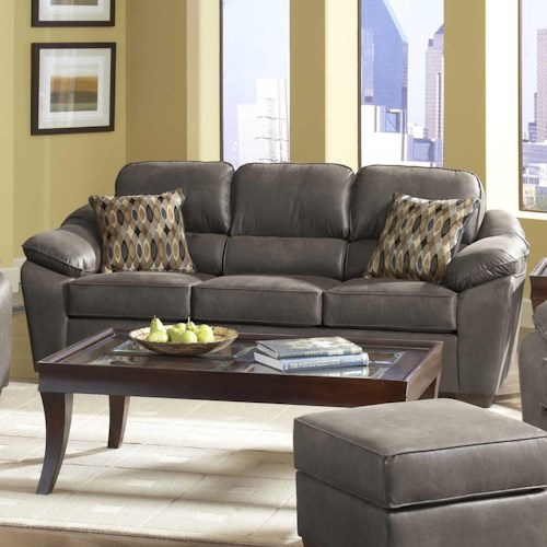 Serta Upholstery by Hughes Furniture 3800 Casual Pillow Topped Sofa