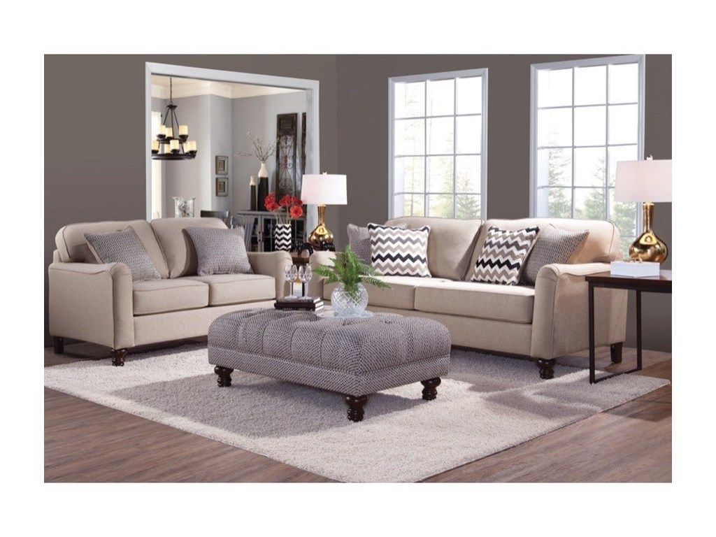 Serta Upholstery by Hughes Furniture 4050 Stationary Living ...