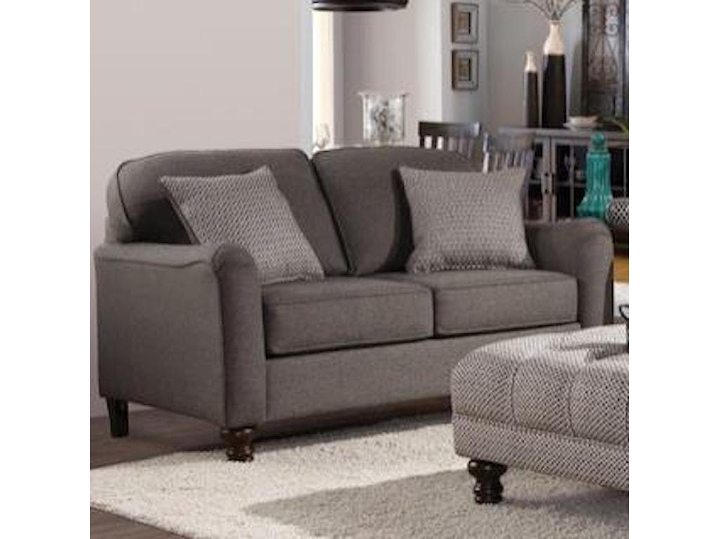 Hughes Furniture PemberlyTransitional Loveseat