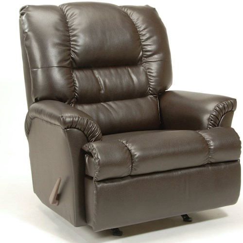 Serta Upholstery 500 Recliner Casual Three Way Recliner with Pillow Arms