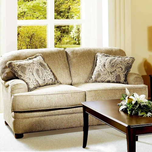 Hughes Furniture 5500  Transitional Loveseat with English Arms