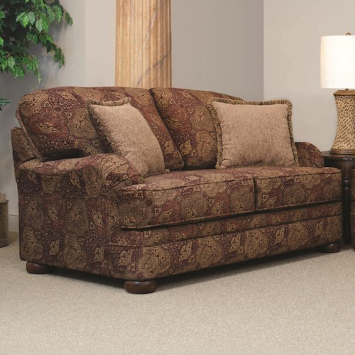 Serta Upholstery by Hughes Furniture 5500  Transitional Loveseat with English Arms