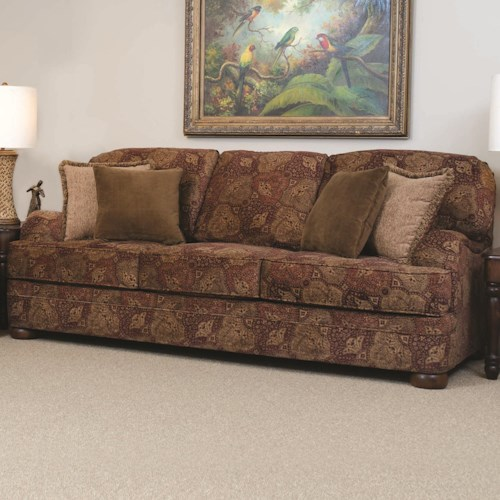 Serta Upholstery by Hughes Furniture 5500  Transitional Sofa with English Arms