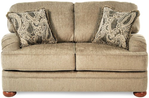 Serta Upholstery Orion Transitional Loveseat with English Arms
