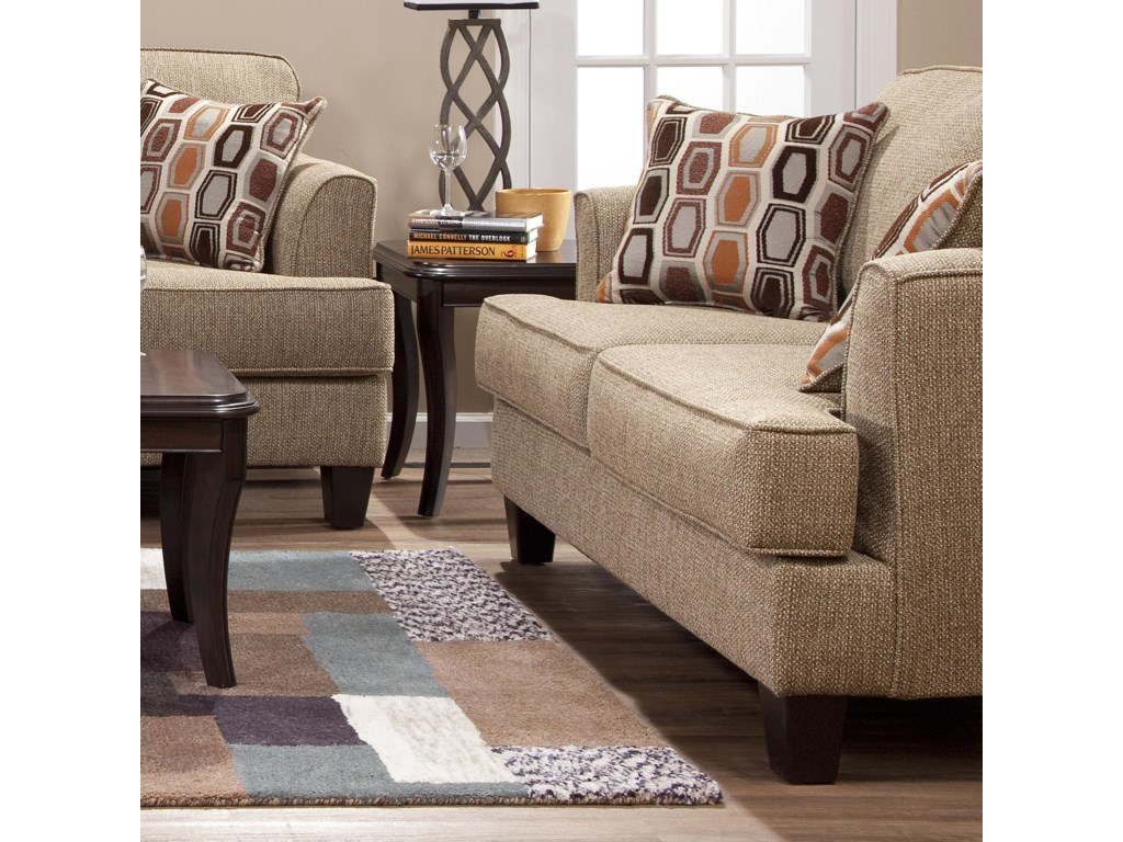 5600 Transitional Love Seat with Accent Pillows by Serta Upholstery by  Hughes Furniture at Rooms for Less