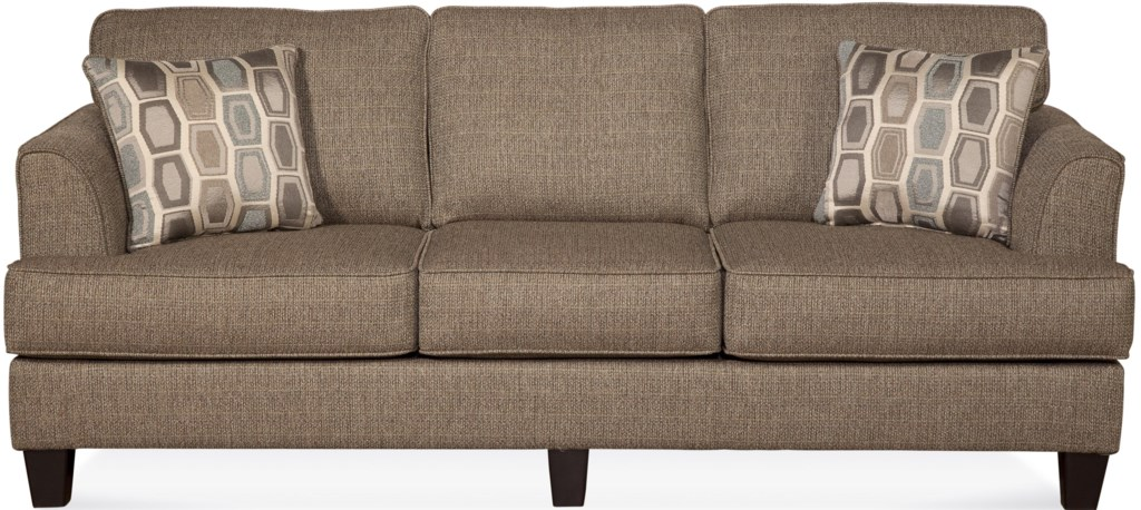 Serta Upholstery By Hughes Furniture 5600 Contemporary Sofa With Accent  Pillows - VanDrie Home Furnishings - Sofas