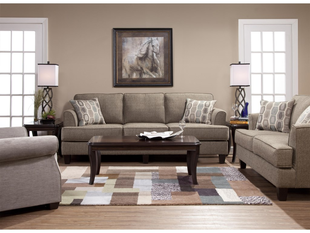 Serta Upholstery by Hughes Furniture 5600 Contemporary Sofa with ...