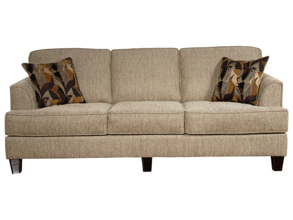 Hughes Furniture 5600 Contemporary Sofa With Accent Pillows
