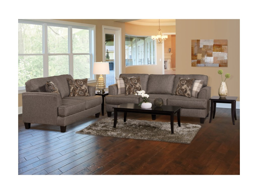Serta Upholstery by Hughes Furniture 5625Loveseat