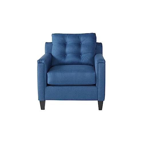 Serta Upholstery by Hughes Furniture 6800Jitt Denim Chair