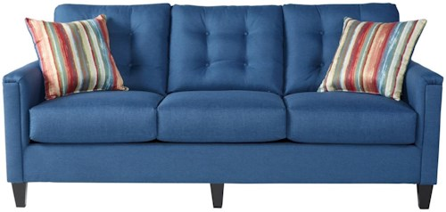 Serta Upholstery by Hughes Furniture 6800Jitt Denim Sofa