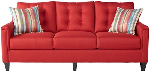 Serta Upholstery by Hughes Furniture 6800Jitt Red Sofa