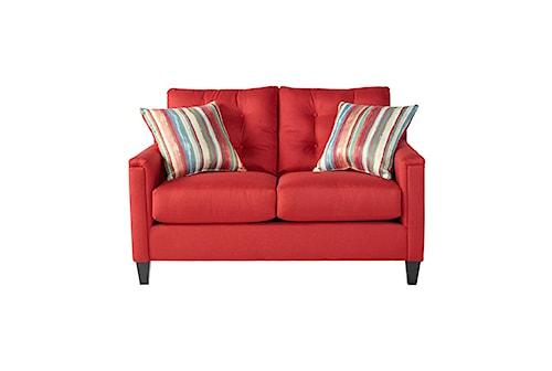 Serta Upholstery by Hughes Furniture 6800Jitt Red Loveseat