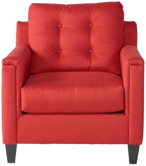 Serta Upholstery by Hughes Furniture 6800Jitt Red Chair