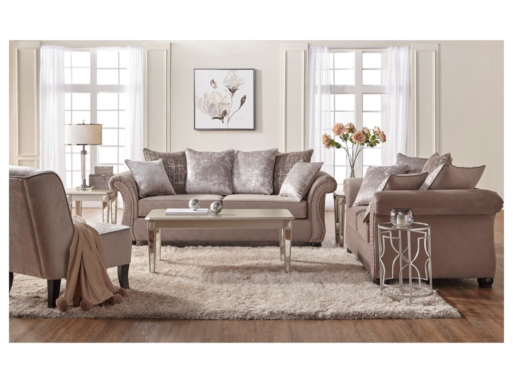 Serta Upholstery by Hughes Furniture 7500Stationary Living Room Group