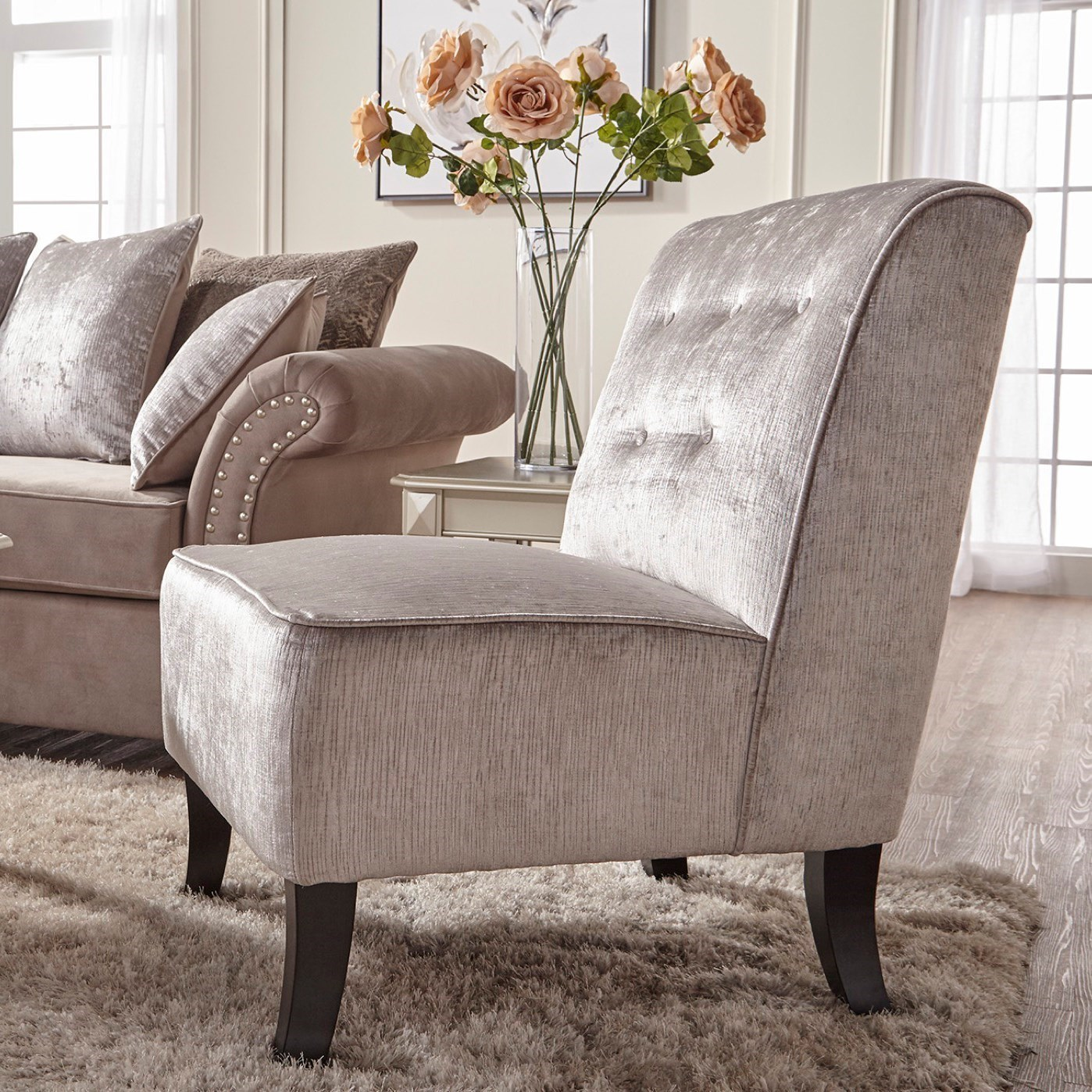Serta Upholstery By Hughes Furniture 7500Upholstered Accent Chair ...