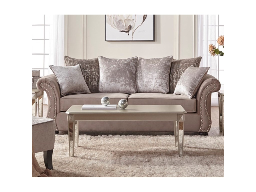 Serta Sofa And Loveseat Artesia 61 Loveseat Smoke Gray