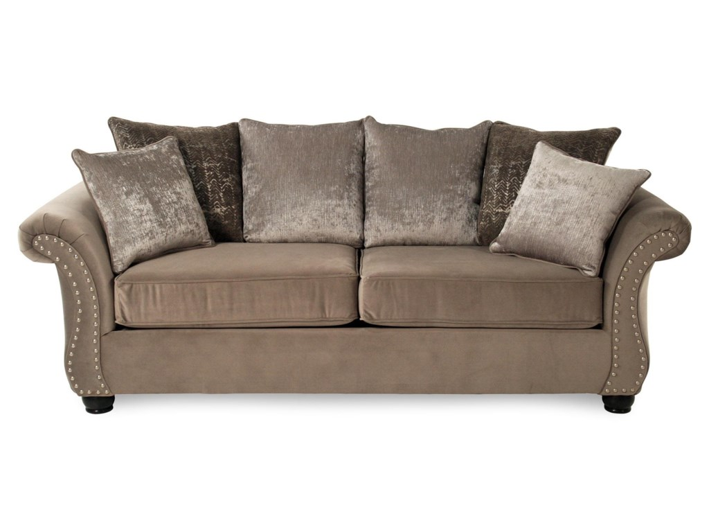 Cosmos Traditional Stationary Sofa With Nailhead Trim By Serta Upholstery At Rotmans