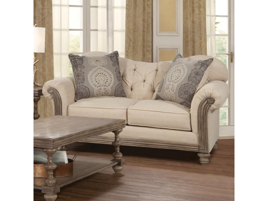 Serta Upholstery by Hughes Furniture 8725Traditional Loveseat