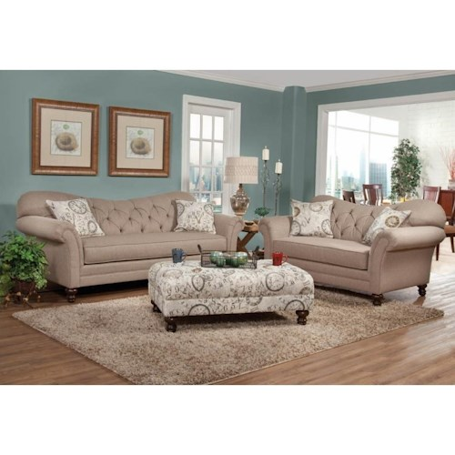 Hughes Furniture 8750 Stationary Living Room Group