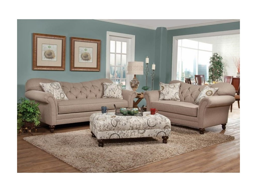 Hughes Furniture 8750Loveseat