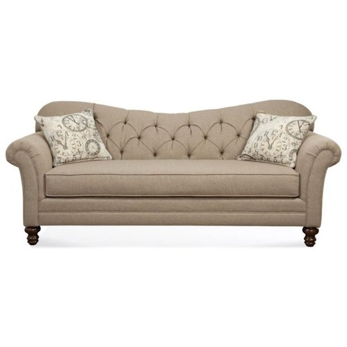 Serta Upholstery by Hughes Furniture 8750 Sofa with Diamond Tufted Back