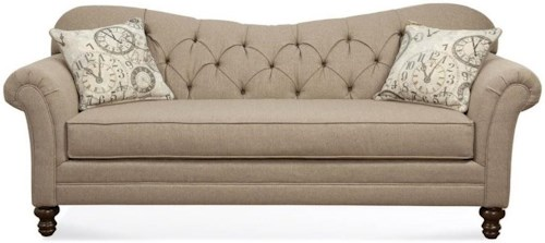 Hughes Furniture 8750 Sofa with Diamond Tufted Back