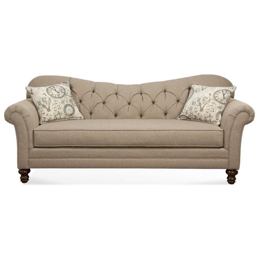 Hughes Furniture 8750 Sofa With Diamond Tufted Back