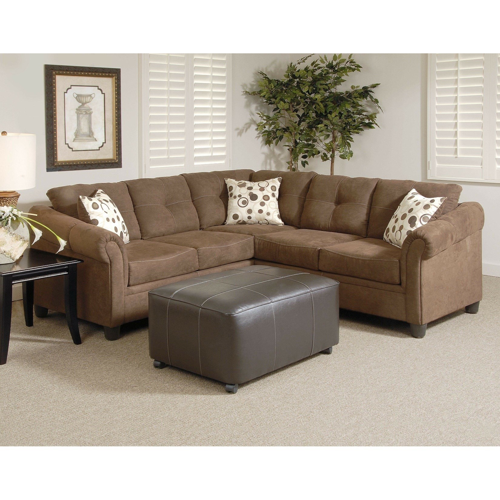 900 Casual Sectional Sofa With Tufted Pillow Backs By Serta Upholstery
