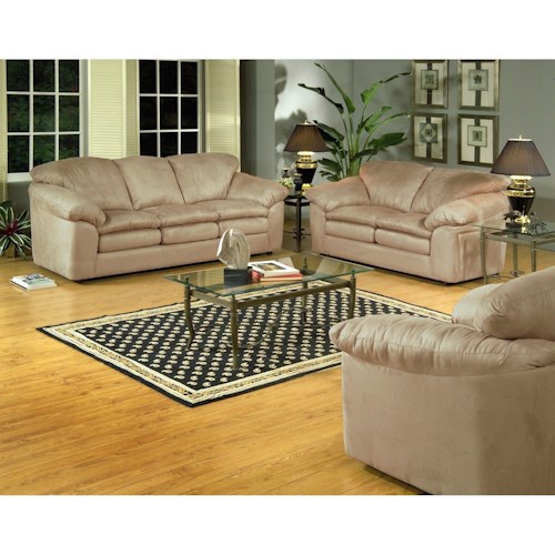 Serta Upholstery 9000 Casual Living Room Group with Plush Seats