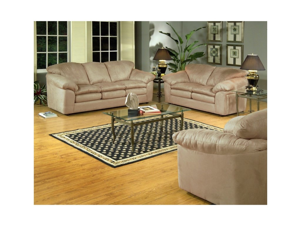 Serta Upholstery by Hughes Furniture 9000Casual Sofa