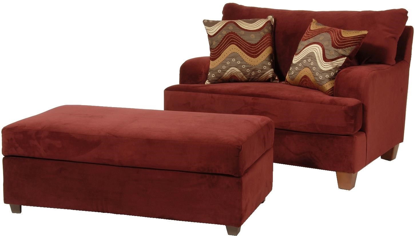9200 Cuddle Chair And Storage Ottoman By Serta Upholstery By Hughes  Furniture
