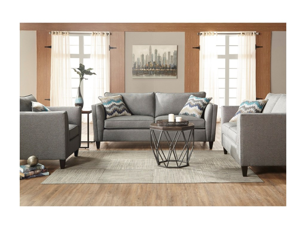 Serta Upholstery by Hughes Furniture 9300Stationary Sofa