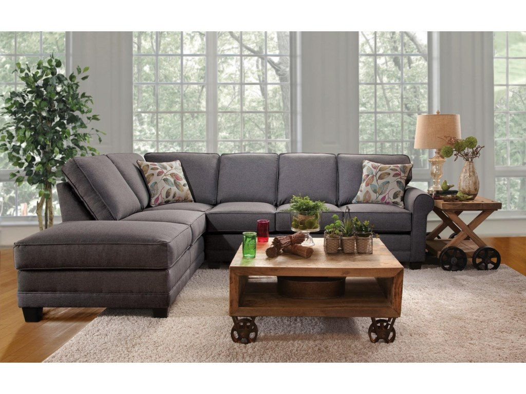 Jitterbug 2PC Sectional w/ Chaise by Serta Upholstery at Rotmans