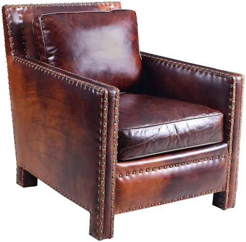 Hooker furniture club chairs contemporary nailhead studded for Furniture 500 companies