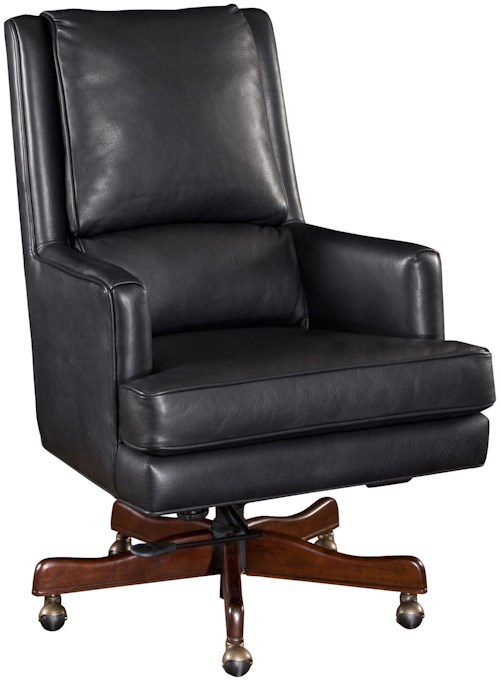 Hooker Furniture Executive Seating Upholstered Leather Desk Chair with Professional Style