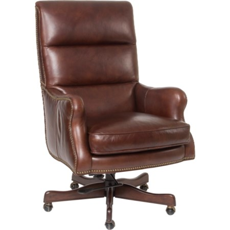 Classic Styled Leather Desk Chair
